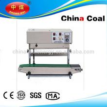 Continuous heating plastic film ink sealing machine,film sealer