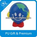 Mapa de la copa del mundo de bola natural de la muñeca cara divertida bola mundo de juguetes regalos del globo del mundo mapa para artículos de regalo promocional