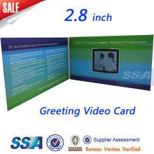 "2.4"" 2.8"" 4.3"" 5"" 7"" 10"" Build in Memory Greeting Video card"
