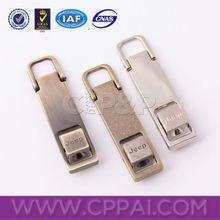 Brass color zinc alloy zipper pull tabs
