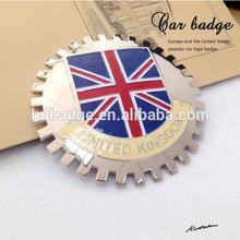 Custom UK flag car grill badge/car emblem with sparent enamel car badge