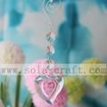 Novos romântico 10 * 44 * 46 MM forma transparente coração lustre pingente de cristal de luxo acrílico prismas