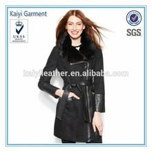 Faux breathable cheap woman snow jacket
