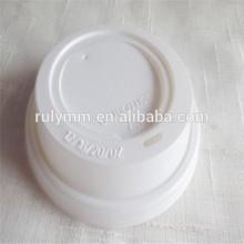 Plastic food grade 90mm coffee cup lid