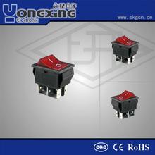 10A 250V AC T125 16A 125(250)V AC T85 Illuminated Momentary Rocker Switches