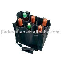 Wine non woven bag Jute woven shopping bag/Reusable bottle wine non-woven shopping bag/Wine cooler Bag