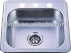304 stainless steel single bowl kitchen sink of KTS1919 with CU