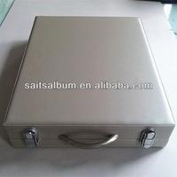 Silver Leather Photo Album Presentation Box manufacturer