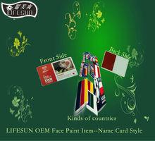 2018 OEM WORLD CUP Brazial Fan Face Paint