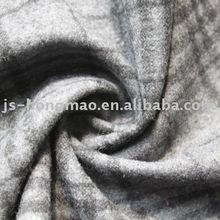Grey Plaid Woolen Woven Fabric