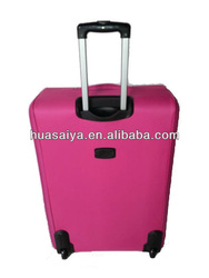 2014 New design 4 piece side eva travel trolley bag with pvc cover