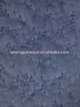 0.5mm 1mm thickness Bird's Eye Maple dyed wood commercial veneer for wooden decoration