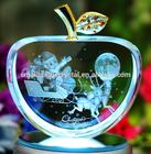 2014 crystal apple christmas gifts with led light base