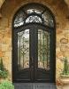 wrought iron door glass