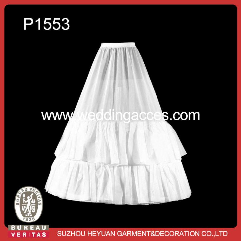 2014 Hot Sale White 3-hoop Wedding Petticoat Crinoline for Bridal
