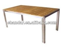 teak dining tables stainless steel outdoor garden
