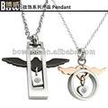 2013 moda popular e asas de anjo pingente