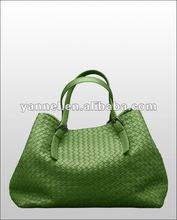 2015 Newest fashion lady large totoe bag_lambskin woven bag_woven handbag