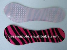 3/4 longitud accesorios del zapato del Gel de silicona Material productos de cuidado del pie plantilla del zapato almohadilla adhesiva para mujeres