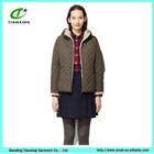 2014 Hot sale slim fit Blue ladies trench coat