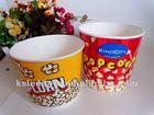 Custom printed paper popcorn bowl/bucket/barrel