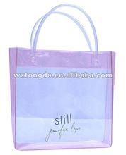 New Design transparent PVC hand bag(WZ5575)