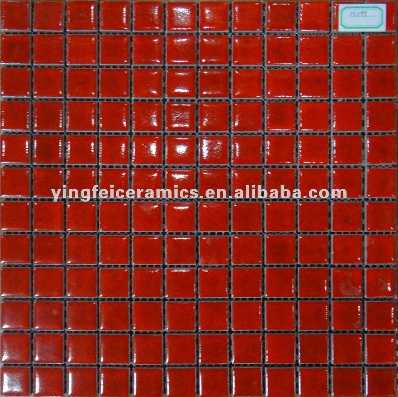 Baños Con Azulejos Rojos:23 x 23 mm qualilty para rojo mosaico azulejos de la pared-Mosaicos