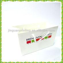 custom white paper bag with logo printed/cloth shopping paper bag