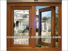 Euro standard two panels Solid wood casement window