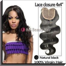 AAAAA Wholesale Mid-parting Brazilian Hair Closure,Silk Lace Closure
