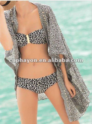 2014 leopard print bikini open women photos