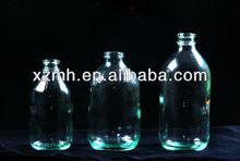 100ml,250ml,500ml clear glass medicine bottle