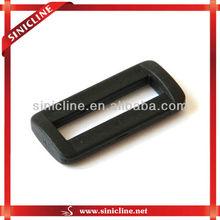 Fashion Slider Plated Black Plastic Square Belt Buckle