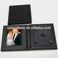 Latest unique DVD case CD case for sale black leather CD case wholesale