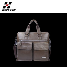Conference laptop bag with leather material
