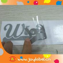 die cut pvc car decor sticker with custom logo stickers