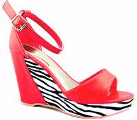 High heels pretty ladies model sandal wedges