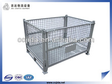 Heavy duty folding steel container