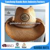 Hot selling raffia straw knitted cowboy straw hats