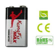 9V Zinc carbon dry battery 6F22