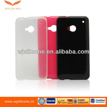 Cellphone TPU protector skin case for HTC ONE