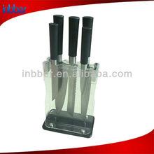 5pcs circular PP handle Japanese knife set