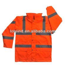 orange reflective safety workwear jacket