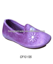 flower embroidered casual shoe for women