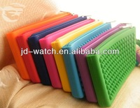 Non-slip round dot gift silicone key bag wallets for man