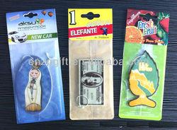 sneaker car fresheners, scented paper card, advertising car paper freshener card