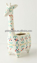 custom cheap animal shaped ceramic flower vase.