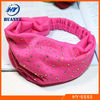 hot pink fabric headband crystal ladies headband elastic fabric headband
