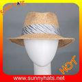 Novos estilos de moda palha safari/chapéu fedora