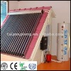 family using solar energy shower &washing system